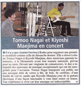 Centre Presse Rodez, 16. Apr. 2013. / 2013年4月16日 Centre Presse 紙